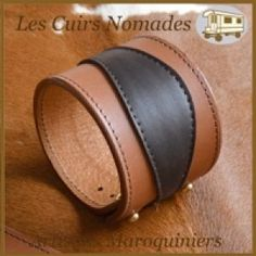Les Cuirs Nomades - Bracelets de force et poignets de force en cuir de vachette pleine fleur