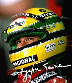 Ayrton Senna. Prevailed in spite of the system and politics of his sport. Gave…