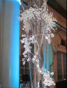 Iced Branch Centerpieces  Winter  Wedding by MagicBeyondMidnight, $75.00