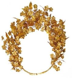 Thracian princess meda's gold myrtle wreath | from the tomb of philip II | 310 BC