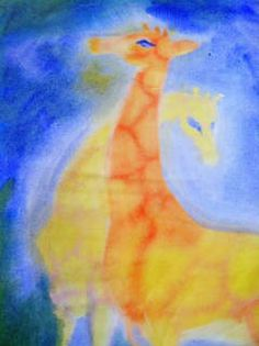 Detroit Waldorf School presents community art exhibit at Boll Family YMCA Wet On Wet Painting, Painting & Drawing, Watercolor Paintings, Rudolf Steiner, Animal Paintings, Animal Drawings, 4th Grade Art, School Displays, Power Animal