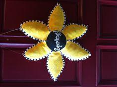 Burlap door hanger for Spring!