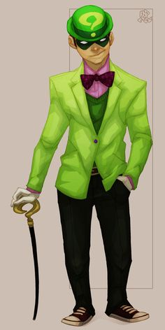 If someone gets me a green suit I'll totally be the riddler for Halloween