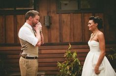 10 Pictures Of Grooms Seeing Their Brides For The First Time On Their Wedding Day - Ned Hardy | Ned Hardy