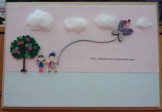 end product of our little sign board - Quilled Creations Quilling Gallery