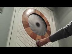 Mechanical iris window shade - YouTube