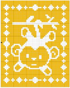 Filet Monkey Blanket Crochet Pattern - The Lavender Chair
