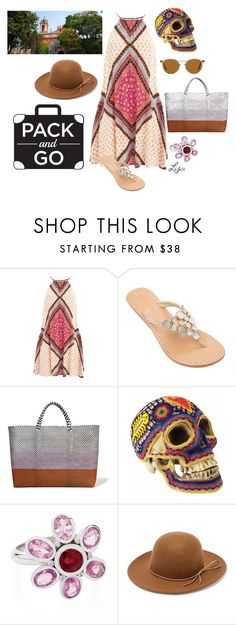 """""""Mexico City"""" by coolmommy44 ❤ liked on Polyvore featuring MINKPINK, TRUSS, Our Exquisite Corpse, Augustine Jewels, RHYTHM, Oliver Peoples, polyvorecontest and Packandgo"""