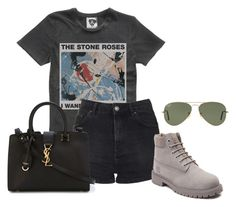 """Untitled #3331"" by ericacavaco12 ❤ liked on Polyvore featuring Topshop, Timberland, Yves Saint Laurent and Ray-Ban"