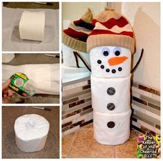 Toilet Paper Snowman Craft