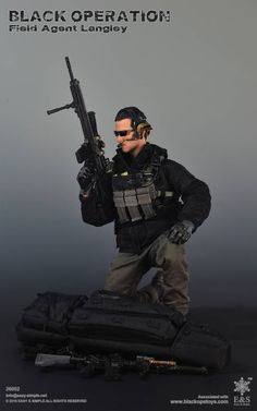 onesixthscalepictures: E&S Black Operation FIELD AGENT LANGLEY : Latest product news for scale figures inch collectibles).