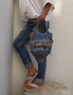 Love Crochet, Knit Crochet, Wicker Purse, Macrame Bag, Jute Bags, Crochet Handbags, Knitted Bags, Handmade Bags, Purses And Bags