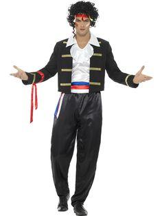 Mens Fancy Dress New Romantic Adam Ant Costume Costume Halloween, Ant Costume, 1980s Costume, Adult Halloween, Black Costume, Hip Hop Costumes, Adult Costumes, Costumes For Women, Men's Costumes