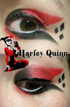 Harley Quinn make-up. So cute!