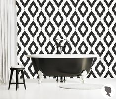 Damask Pattern Self Adhesive Removable Wallpaper Z060 by Livettes