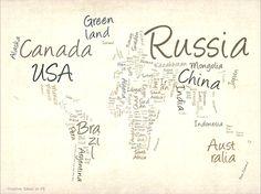 El rojo y el negro: Un mapa mundi literal