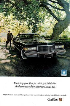 https://flic.kr/p/212MHXw   1976 Cadillac 4 Door Hardtop USA Original Magazine Advertisement