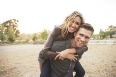 San Juan Capistrano, California engagement photo session. Open field. Goofy. Rustic theme. Celina Kenyon Photography
