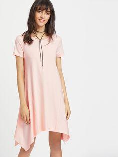 Shop Pink Asymmetric Swing Dress online. SheIn offers Pink Asymmetric Swing Dress & more to fit your fashionable needs.