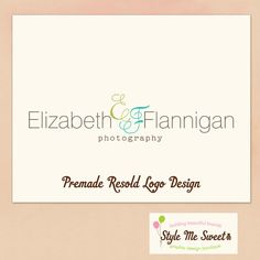 Logo Design Premade  Gorgeous Script by stylemesweetdesign on Etsy, $30.00