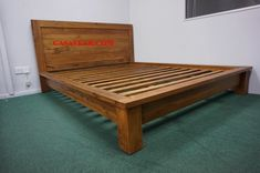 Modern Design Single Bed Made of Solid Teak Wood, This Single Bed is Stylish & Modern Available in Different Color as Well. Bed Frame For Hotels & Homes. Wood Bedroom Furniture, Teak Furniture, Bespoke Furniture, Unique Furniture, Wooden Bed Frames, Wood Beds, At Home Furniture Store, Queen Size Bedding, How To Make Bed