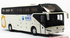 White / Orange 1:42 Die-Cast ShangHai SUNLONG SLK6120 Tour Bus