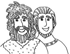Here: Home Jacob and Esau Picture of Jacob and Esau Coloring Page
