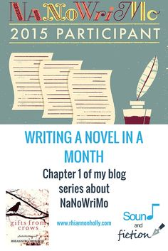 Latest blog: #Writing a novel in a month - Chapter 1 of my #blog series about #NaNoWriMo (National Novel Writing Month) now on Sound and Fiction  #AmWriting #novels #50000words #challenge #soundandfiction