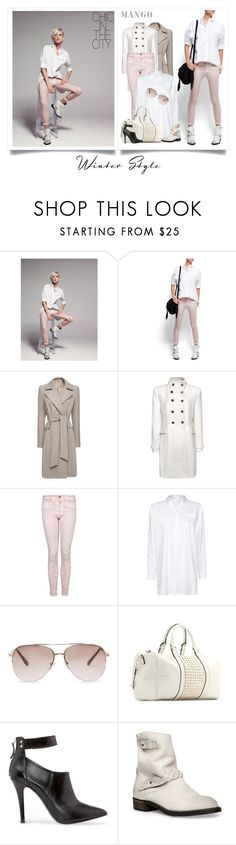 """""""Light up!"""" by azzah-abdurrahman ❤ liked on Polyvore featuring MANGO, skinny jeans, ankle boots, boyfriend shirts, boucle coats, slim skinny jeans and faded jeans"""