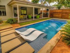 Riverbend Sandler Pools offers Geometric Pool Designs Dallas, Frisco and surrounding areas that homeowners can be proud of. Backyard Pool Landscaping, Backyard Pool Designs, Small Backyard Pools, Small Pools, Swimming Pools Backyard, Swimming Pool Designs, Backyard Ideas, Pool Ideas, Garden Ideas