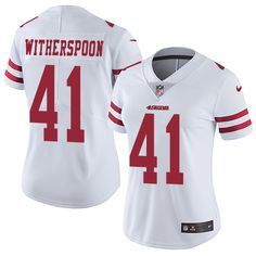 Women's Nike San Francisco 49ers #41 Ahkello Witherspoon Limited White NFL Jersey