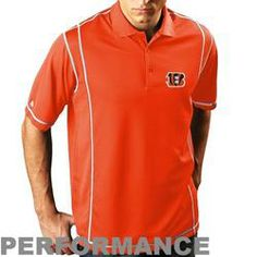 Antigua Cincinnati Bengals Edge Performance Polo - Orange  $56.95