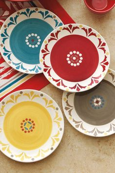 Salsa Appetizer Plate - Multi - Set of 4