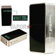 Vapor Joes - Daily Vaping Deals: LOW: THE AUTHENTIC SNOWWOLF 200 WATT / TC BOX MOD - $93.00 + FS