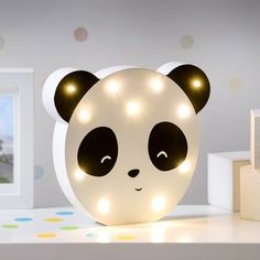 Panda LED Night Light by TheLittleBoysRoom, the perfect gift for Explore more unique gifts in our curated marketplace. Panda Love, Cute Panda, Panda Bear, Bedroom Themes, Nursery Themes, Bedroom Decor, Baby Bedroom, Girls Bedroom, Bedrooms