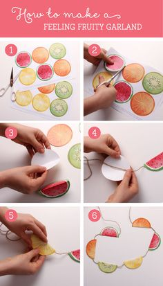 Free Feeling Fruity Printable Garland ~ Tinyme