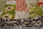 Sew Along Quilt.  This is a step by step tutorial for sewing a quilt.  Pictures are clear and directions are easy to follow.