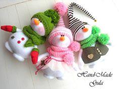 Best 12 Yulia Gula's photos – SkillOfKing. Pink Christmas Decorations, Christmas Crafts To Make, Christmas Makes, Felt Christmas, Christmas Snowman, Diy Crafts For Kids, Christmas Ornaments, Felt Crafts Patterns, Snowman Crafts