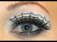 How to Create a spiderweb eye makeup look for Halloween « Makeup