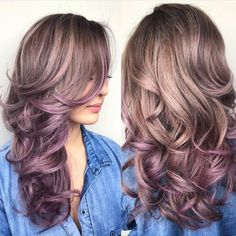 """Dusty Mauve Balayage by @jamiekeikohair """
