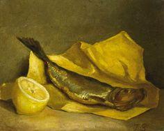 Nature morte au hareng bouffi et citron