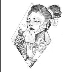Japanese Drawings, Japanese Tattoo Art, Japanese Art, Tattoo Sketches, Tattoo Drawings, Art Sketches, Sketch Design, Graphic Design Art, Pikachu Tattoo