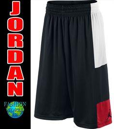 bcfc863645196a New Nike Air Jordan TRILLIONAIRE Dri Fit BB Shorts Black Wht Red Sz L  729413 011