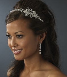 Pearl and Crystal Bridal Headband with Side Accent - lovely! affordableelegancebridal.com