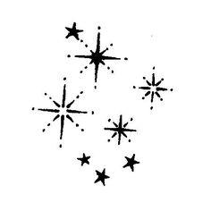 Tampon bois - Etoiles de Noël - 3.5 x 3.2 cm