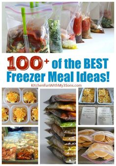 The Best Freezer Meals including breakfast, fantastic slow cooker dinners, cheap meals, and make ahead snacks...we have you covered!