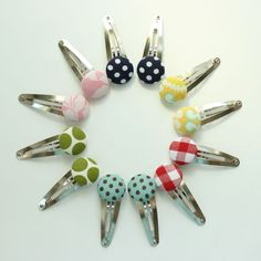 chubby button hair clips - 47, $20.00 by the pleated poppy