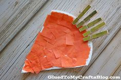 Clothespin Paper Plate Carrot - Kid Craft