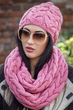 Шапка *Джейни* и шарф хомут широкими косами - Perchinka63