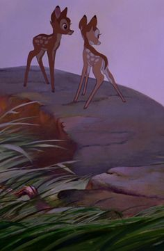 Bambi and other little deer (haven't seen the whole movie if she has a name) Arte Disney, Disney Fan Art, Disney Magic, Disney And Dreamworks, Disney Pixar, Disney Characters, Walt Disney Animation, Animation Film, Disney Dream